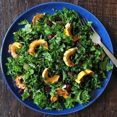 Kale them with kindness! My message to my boys this morning was one of kindness and compassion.  What better way than to start with yourself and your family. You'll be thankful for this salad whether you make it now or serve it on Thanksgiving. Massaged kale, roasted delicata squash, cranberries and almonds all tossed in a maple-lemon vinaigrette.  Nourishing and delicious!. .  Recipe:. Salad:. 1 bunch kale. 1 delicata squash. 3/4 cup dried cranberries. 3/4 cup sliced almonds. Olive oil…