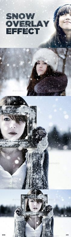 Snowy Day Overlay Effect #realistic #snow #snowflake #$16