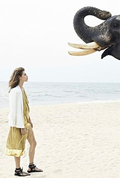 """Anais Pouliot in """"India Song"""" bySonia SieffforMadame Air France,June/July 2014"""