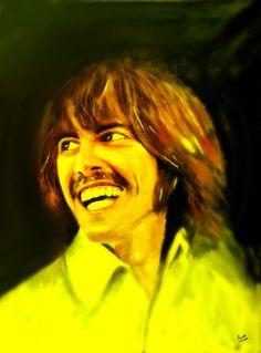 George Harrison - The Beatles Painting by Marcello Cicchini Beatles Love, Beatles Art, George Harrison, Ringo Starr, Dark Horse, Paul Mccartney, Love Art, Graphic Art