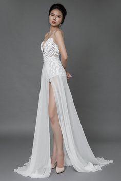 5a8a657625f84 bohemian wedding bodysuit with detachable skirt bridal