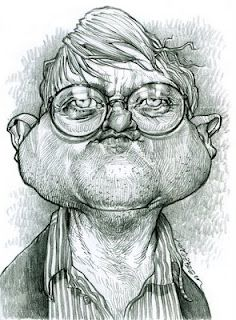 Artist:Jan Op De Beeck   Caricature:David Hockney