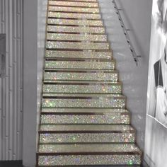 The stairs in Swarovski on the Champs Élysées in Paris.  I want stairs like this in my house... you don't think I like sparkly jewelry like stuff do you??? LOL