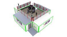 Preliminary Design for FCSI Four Box Pavilion designed by LU Schildmeyer
