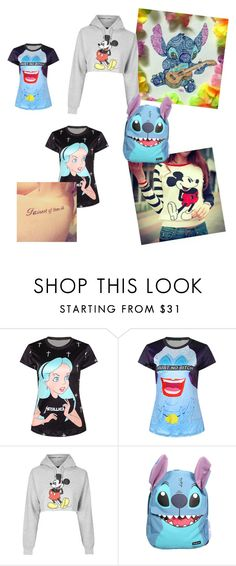 """""""DISNEY IS BAE"""" by crispyturtle ❤ liked on Polyvore featuring Topshop and Disney"""