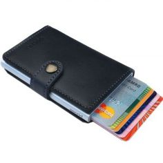 df0b4b54654 Secrid mini wallet genuine black leather with RFID protection / with one  click all cards slide out gradually at Amazon Men's Clothing store:  Business Card ...