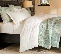 Jordana Paisley Quilt - Pottery Barn. Blue is such a relaxing color. This is headed my way!