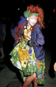 "fragilestability: "" Cyndi Lauper at the 1984 Grammy's "" Cyndi Lauper Costume, Divas Pop, The Wedding Singer, Famous Musicians, New Wave, 80s Fashion, Blazer, Fancy Dress, Music Artists"