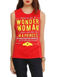 DC Comics Im Not Saying Im Wonder Woman Girls Muscle Top 2XL Size : XX-Large @ niftywarehouse.com #NiftyWarehouse #DC #Comics #ComicBooks #WonderWoman #SuperHeroes