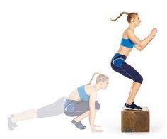Plyo Box Burn: Burppe Box Jump --> SERIOUS calorie burner! #workout