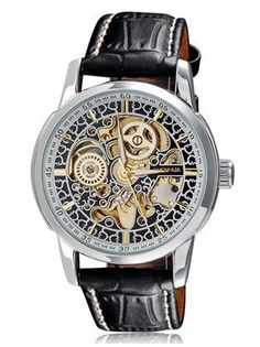 SH 1274 Unisex Automatic Mechanical Watch with Round Alloy Dial & Faux Leather Strap