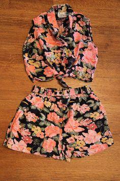 1990s Vintage Girls Floral HighWaist Pant and by TheBlackVinyl, $11.00 #kids #vintage kids clothing #vintage