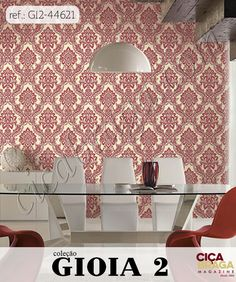 Papel de Parede Gioia 2, sofisticado, que mescla o contemporâneo com o clássico e traz o melhor da qualidade italiana. Com novos conceitos como papel de parede geométrico com efeito 3D, estampa de folhagens realistas, cores sóbrias e fortes, assim como a neutralidade dos tons de bege.  #PapeldeParede #Gioia2 #Gioia #papeldeparedeitaliano #decoração #decorador #decoraçãocompapeldeparede #designdeinteriores #arquitetura #lojaciçabraga #ciçabragapapeldeparede #ciçabragamagazine