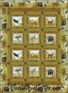 Easy lap and throw that uses two panels. Easy Tens Quilt Pattern CJC-49881 by Castilleja Cotton -   Diane McGregor  Check out our animal & nature quilt patterns. https://www.pinterest.com/quiltwomancom/animal-nature-quilts/  Subscribe to our mailing list for updates on new patterns and sales! https://visitor.constantcontact.com/manage/optin?v=001nInsvTYVCuDEFMt6NnF5AZm5OdNtzij2ua4k-qgFIzX6B22GyGeBWSrTG2Of_W0RDlB-QaVpNqTrhbz9y39jbLrD2dlEPkoHf_P3E6E5nBNVQNAEUs-xVA%3D%3D