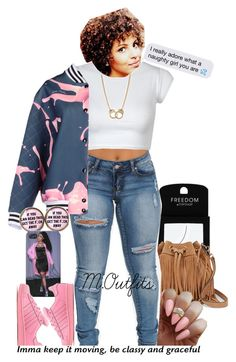 """""""."""" by renipooh ❤ liked on Polyvore featuring Topshop, Rebecca Minkoff, GaÃ«lle Bonheur, adidas Originals and Sugar NY"""