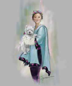 Haute Couture and Westies! Nostalgic Vintage art and gifts