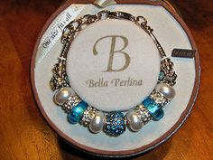 Bella Perlina 3 In 1 Bracelet | ... Bella Perlina Aqua Crystal European Charm Bead Bracelet | eBay