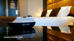 There's a #cruise ship in our cabin onboard MSCsplendida