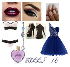 """""""SWEET 16"""" by bubblesisbae on Polyvore featuring Charlotte Russe"""