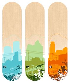3 Skateboard Designs by tubes., via Flickr