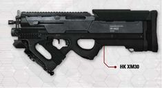 HK XM30 bullpup rifle