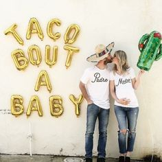 Pregnancy Announcement Madre and Padre Matching Shirts, Pregnancy Announcement, Baby Announcement, Gender Reveal, Gender Reveal Ideas - Pregnancy Photos Baby Shower Gender Reveal, Baby Gender, Baby Shower Themes, Fiesta Gender Reveal Party, Shower Ideas, Bebe Shower, Party Fiesta, After Baby, First Time Moms
