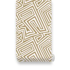 Spiral Lines Pattern Gold Removable Wallpaper  Peel & by WallPlays