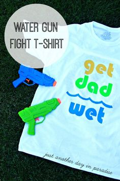 Water Gun Fight T-shirt for Dad vs. Kids water fight. Brought to you by Chevrolet Traverse #Traverse