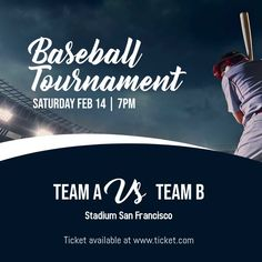 Design created with PosterMyWall Baseball Posters, Baseball Live, Sports Baseball, Social Media Pages, Social Media Graphics, Baseball Tournament, Team Schedule, Instagram Post Template, Share Online