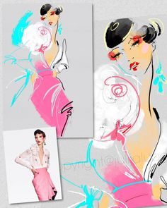 Inspiration and my vision.  Love all new @ronaldvanderkemp !!! Breathtaking editorial of Spring Couture 2017  Really enjoyed drawing all new designs. Thank you for this inspirational vision.  #style #fashionstyle #fashionillustrator #fashionweek2017 #wacom #cintiq #etsy #illustration #fashion #fashionweek #drawing #academicdrawing #pencilsketch @wacom @etsy @etsysellers #makeup #stylist #face #lips #eyes #hair #hairstyles #haircut #eyelashes #trend #vogue #style #ronaldvanderkemp #rvdk…