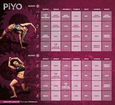 I have recently started a PIYO rotation, and have witnessed incredible results just in the last week. Mixing it up is the key for the muscle confusion we need in order to see real results!