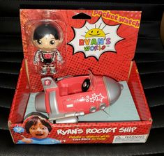 Ryan's World Vehicle Red ROCKET SHIP w/ Figure Set - Collectible And Fun! #Bonkers