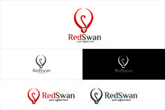 Red Swan / lamp - Logo by SpeedBlessing on @creativemarket