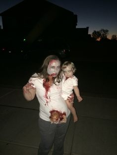 Zombie unborn baby  and zombie toddler