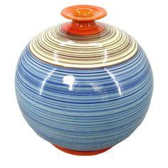Kiara Striped Bottle Vase