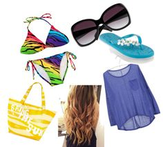 """""""a day at the beach."""" by micaela942012 on Polyvore"""