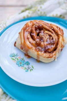 Brioche Apple Cinnamon Rolls Plate via @Shaina Olmanson | Food for My Family