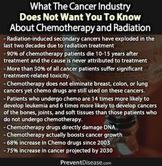 97 Percent of The Time, Chemotherapy Does Not Work And Continues To Be Used Only For One Reason