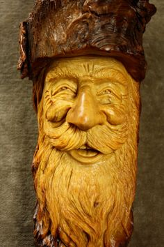 Wood Carving of a Wood Spirit Wall Hanging by TreeWizWoodCarvings, $235.00