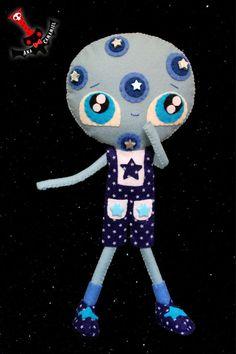 RESERVED Moonty moon boy felt doll by camamiel on Etsy