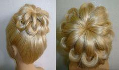 Einfache Frisuren:Hochsteckfrisur.Flechtfrisuren.Zopffrisur.Donut Hair B...