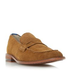 Oliver Sweeney Chatburn suede penny loafers, Tan