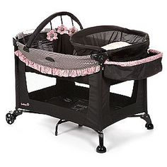 Safety 1st -Travel Ease Elite Baby Play Yard, Eiffel Rose