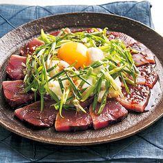 かつおの韓国風カルパッチョ | 藤井恵さんのサラダの料理レシピ | プロの簡単料理レシピはレタスクラブニュース