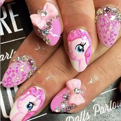Pink unicorn nails by Nicole - SoNailicious