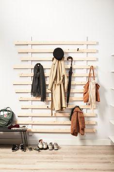 Diy Furniture Storage Closet - New ideas Casa Top, Casa Milano, Flur Design, Design Design, Hallway Designs, Bed Slats, Up House, Hallway Decorating, Apartment Design