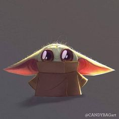 Cute little Baby Yoda - Star Wars Star Wars Fan Art, Star Wars Meme, Simbolos Star Wars, Yoda Drawing, Cuadros Star Wars, Darth Vader, Star Wars Wallpaper, Baby Wallpaper, Cute Disney Wallpaper