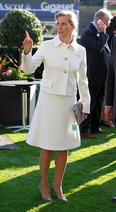 Sophie, Countess of Wessex attends the Autumn Racing & CAMRA Beer Festival meet at Ascot Racecourse on October 2, 2015 in Ascot, England.