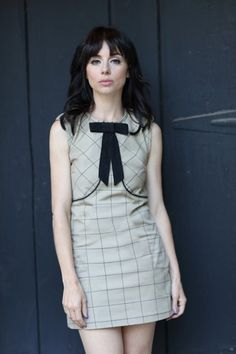 Natasha Leggero Wearing a Dear Creatures dress