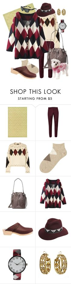 """""""A is for Argyle"""" by lexuslady ❤ liked on Polyvore featuring Martha Stewart, Topman, Isabel Marant, Uniqlo, MICHAEL Michael Kors, Cape Clogs, Maison Michel, Olivia Pratt, Cartier and Bolle"""